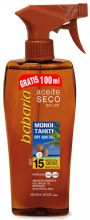 Babaria Tahitian Monoi Dry Sun Oil SPF15 UVA and UVB Protection 300ml